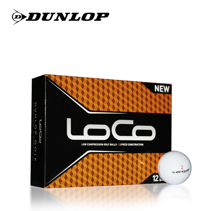 Genuine dunlop loco golf two layers of used golf ball golf practice balls golf ball golf ball distance