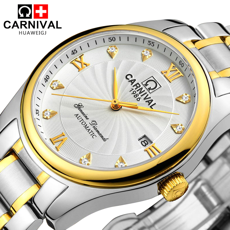 Genuine fiesta automatic mechanical watches men watches men watch hollow men watch business trend fashion watch