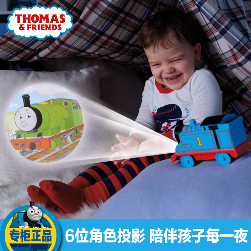 Genuine fisher thomas electric train track thomas projection car men and children gift toys for children