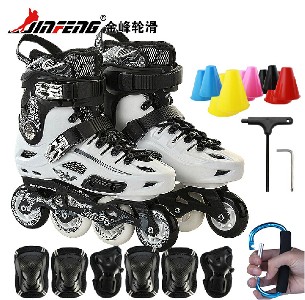 Genuine jinfeng s530 skates adult skates inline skates hua xie ping adult men and women round professional roller skates