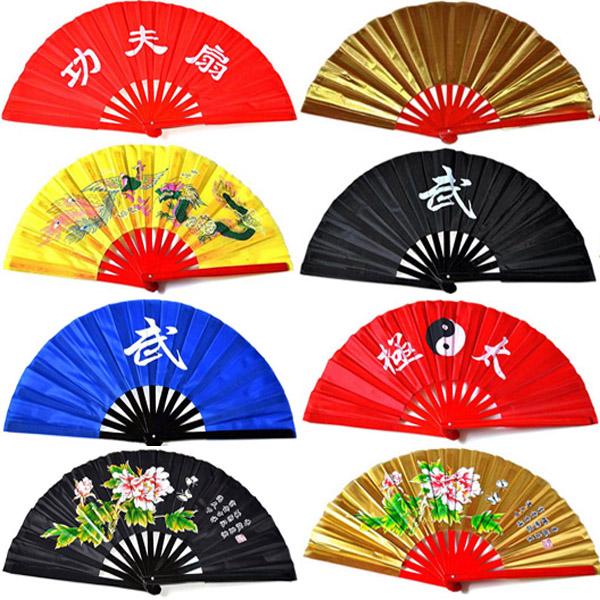 Buy Genuine kung fu tai chi fan kung fu fan bamboo shan gu peony