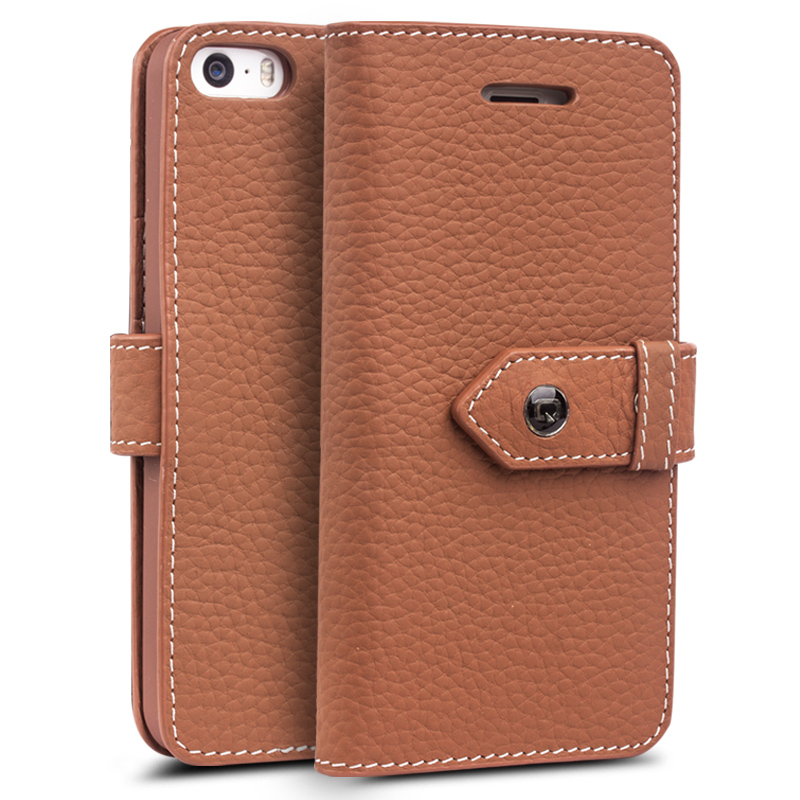 Genuine leather phone shell mobile phone shell apple iphone sc-7383 sc-7383 iphone5s clamshell mobile phone sets shell protective shell holster 5 s e