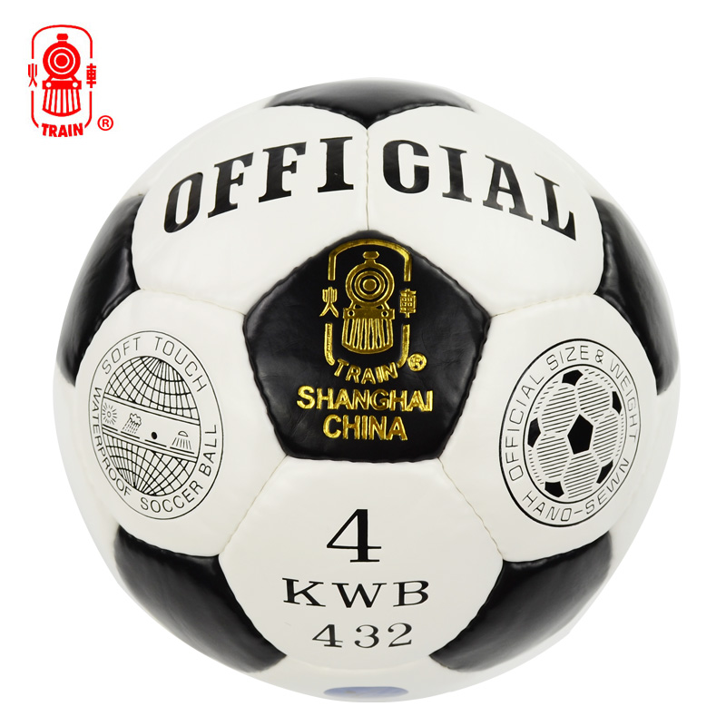 Genuine locomotive football sew no. 3 no. 4 no. 5 pu leather foot feeling good adult students training game with Ball