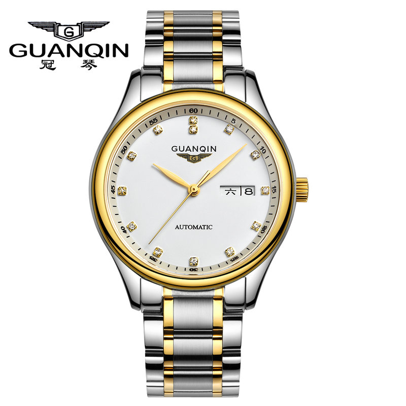 Genuine new watch crown piano genuine leather male automatic mechanical watch men watch stainless steel hollow waterproof luminous watches for men and women