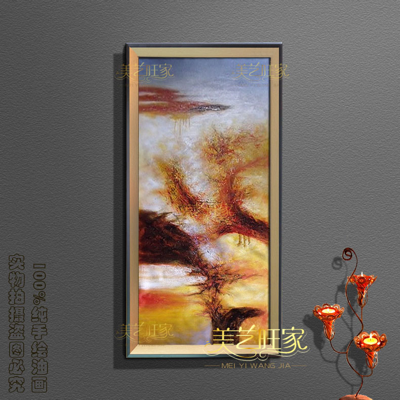 Genuine pictures handmade oil painting framed copy zao abstract painting decorative painting the living room entrance hallway vertical hanging