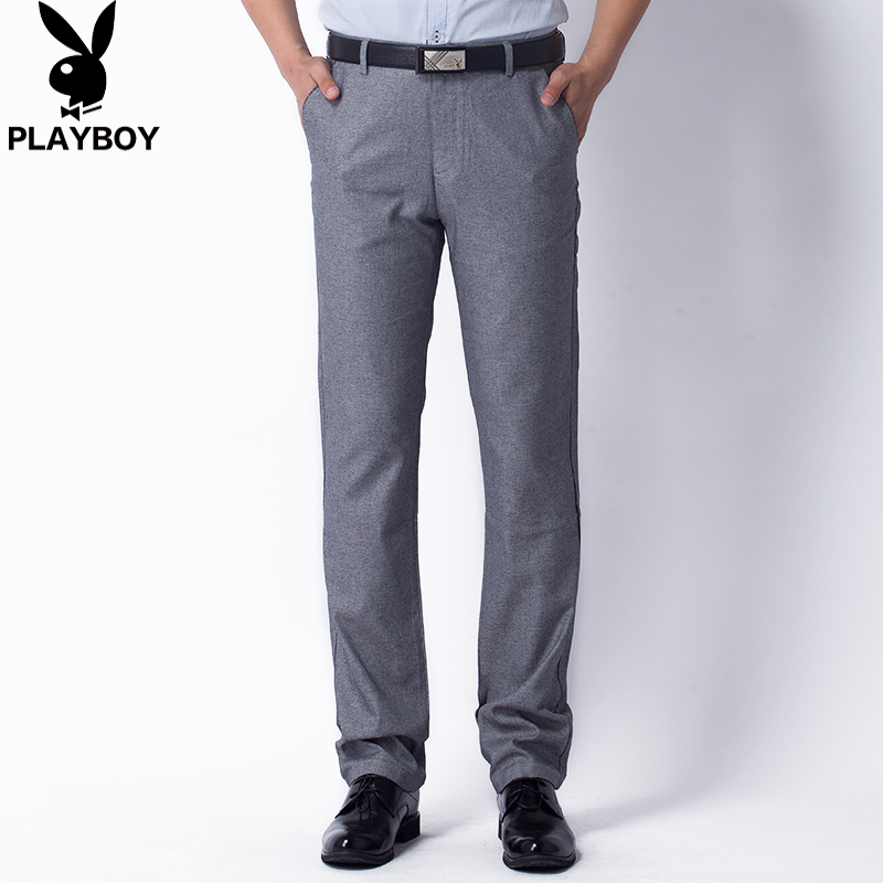 Genuine playboy playboy men's casual pants thin spring and summer casual trousers waist trousers middle-aged