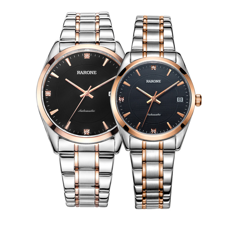 Genuine renault watch couple watch one pair of waterproof automatic mechanical watch through the end of when shang tide male form female form