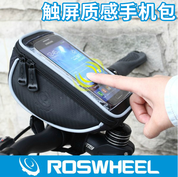 Genuine roswheel le xuan texture series bike stem touch screen mobile phone package single juji line equipment accessories