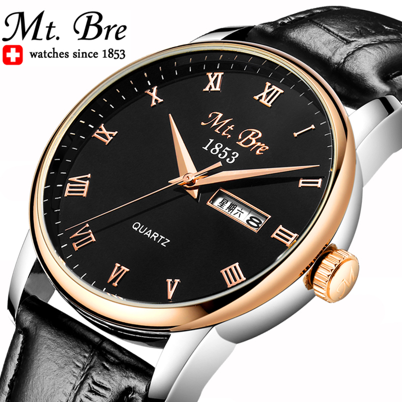Genuine sheng laying quality leather waterproof male table belt watches men quartz watch fashion students watch