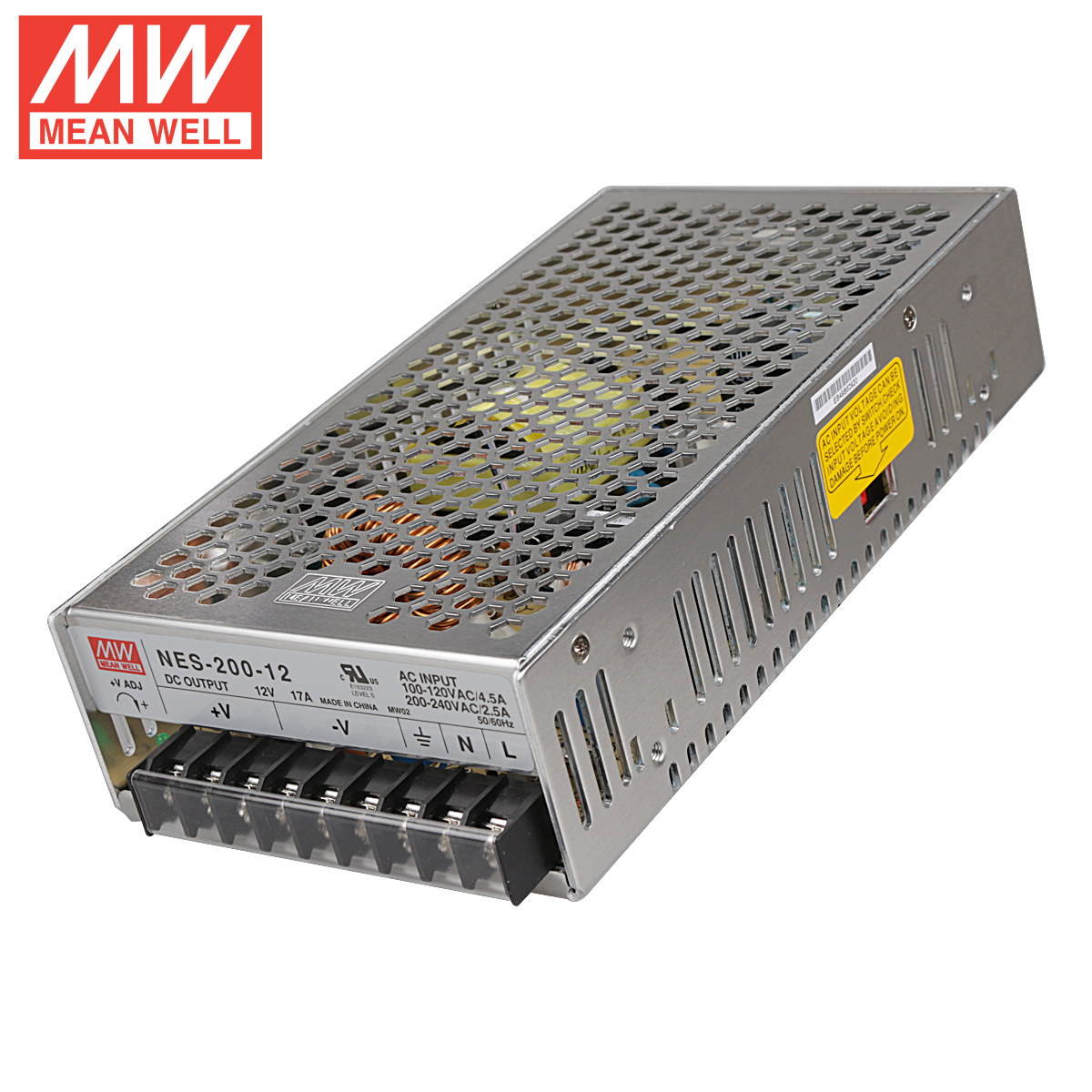 Genuine taiwan meanwell switching power supply nes-200-12 w 12v17a led monitor power supply camera