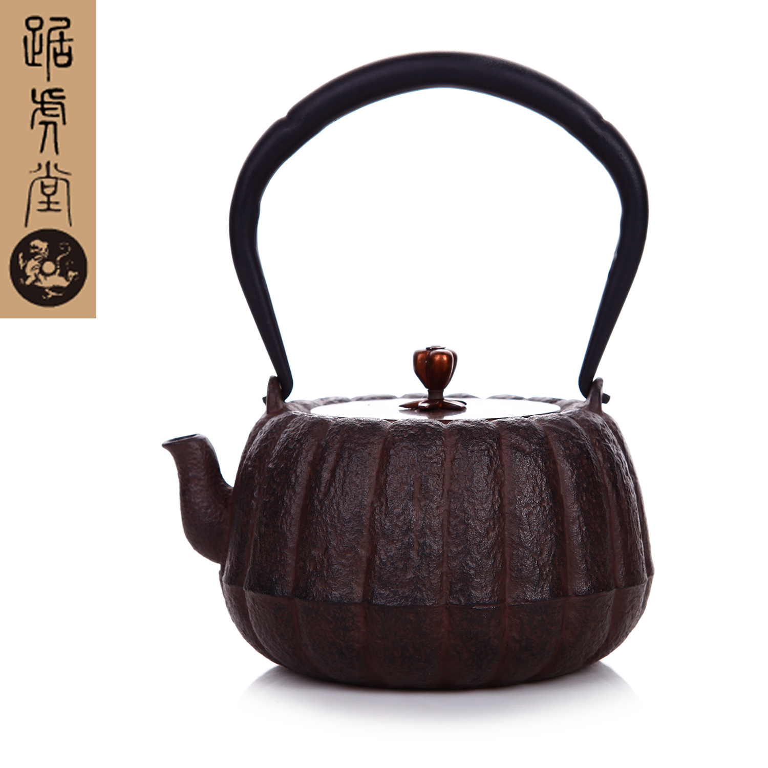 Genuine tiger hall squat red pumpkin pot kyoto old iron kettle in southern japan imported craft new free shipping