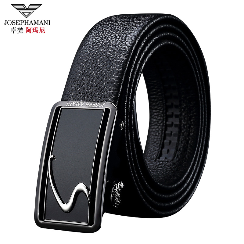 Genuine zhuo fan armani leather belt men's automatic belt buckle belt casual fashion pure leather belt worn inside