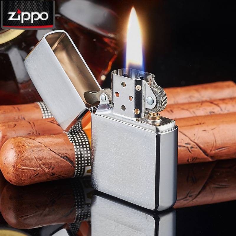 Genuine zippo windproof lighter classic chrome zippo lighter matte brushed sand 200 genuine