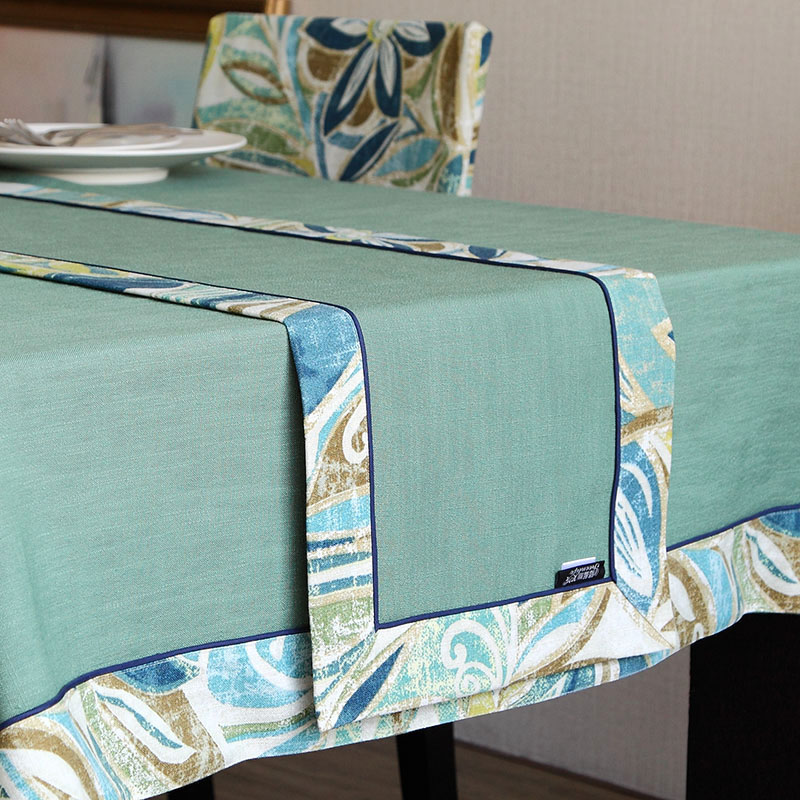 Georgia blue liv linen table cloth flag coffee table dining table american country flag green insulation mat custom