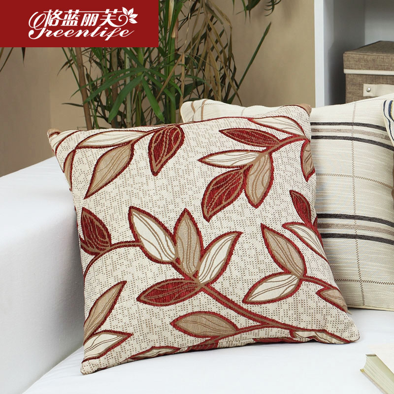 Georgia blue liv minimalist modern sofa pillow leaves office striped jacquard cushion covers pillow new