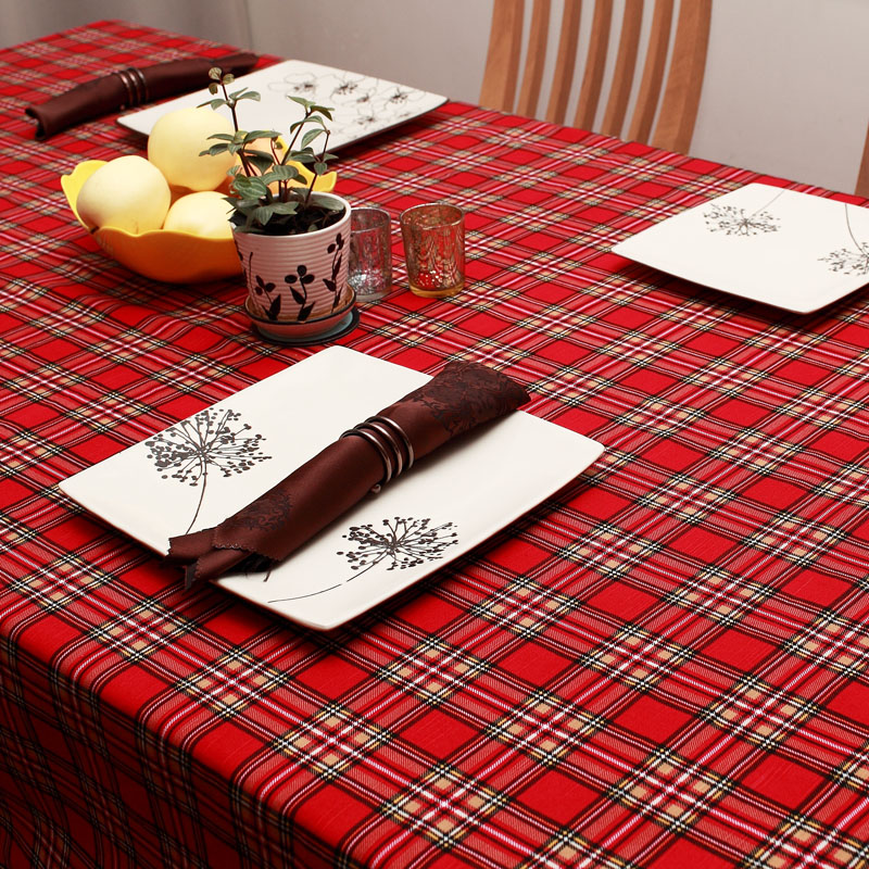 Georgia blue liv simple modern coffee table cloth table cloth cotton plaid fabric tablecloth