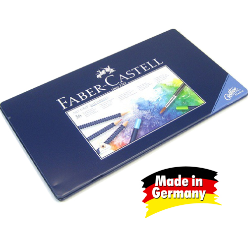 German imports faber 36 color blue tin soluble color of lead soluble colored pencils triangular lattice