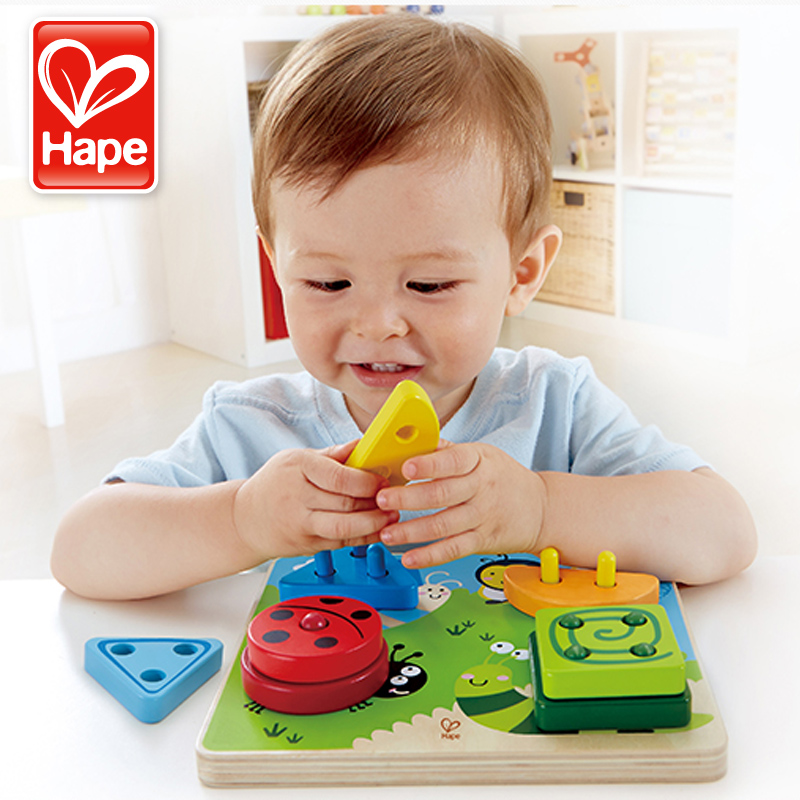 Germany hape intelligence insect classification creative wooden puzzle blocks baby toys for children gifts to share