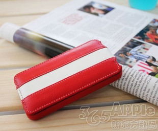Germany melkco apple iphone 4 thin leather holster 4S series handmade red mosaic