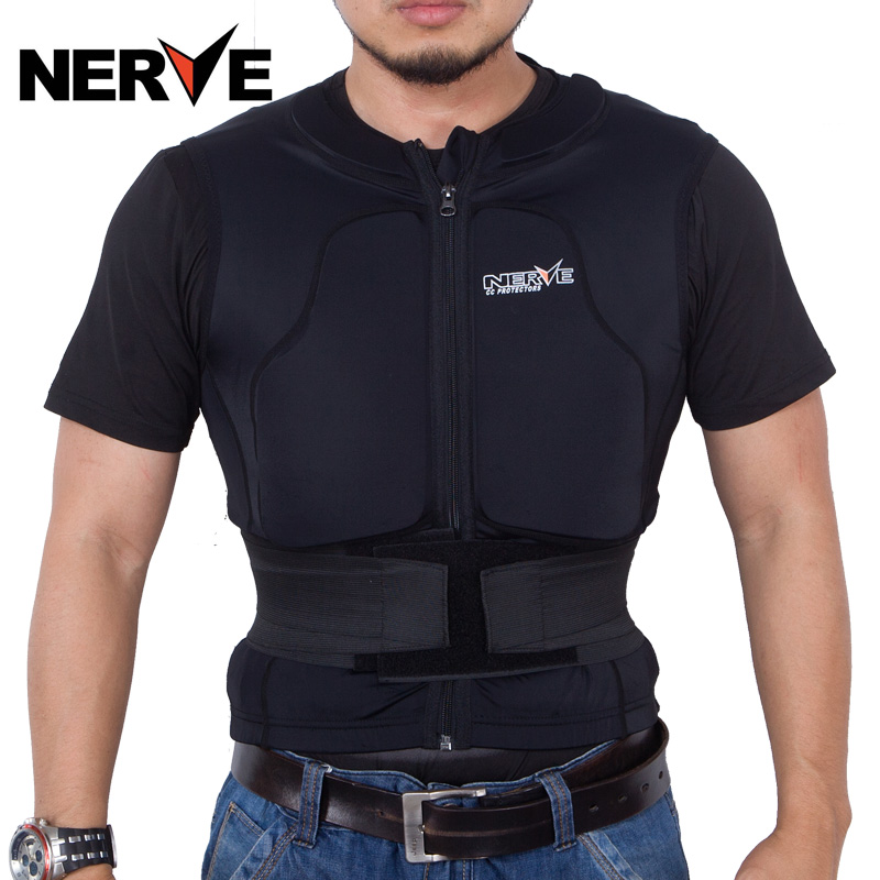 Germany nerve sleeveless built-in memory riding armor clothing drop resistance protective vest vest vest care chest protector with waist winter