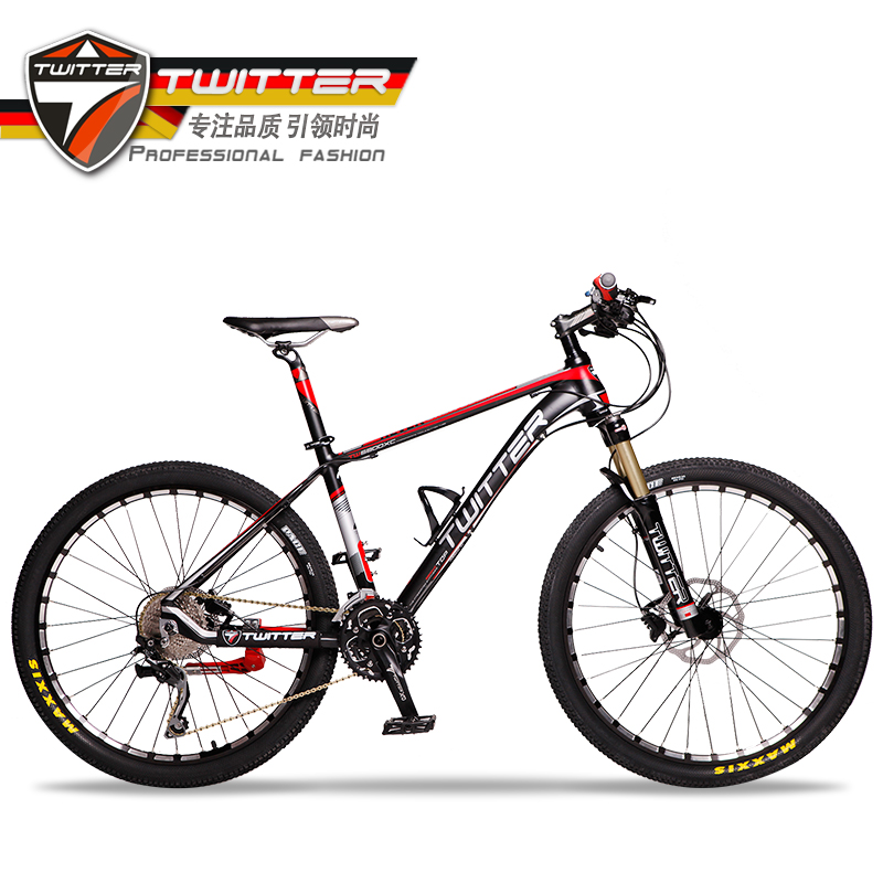 Germany piebald special twitter mountain bike 30 speed shimano brake oil gas fork lightweight mountain bike bicycle