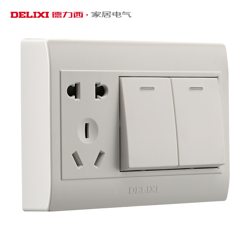 Germany ximing mounted switch two open five hole socket with five holes 86 type socket panel elegant white surface mounted socket