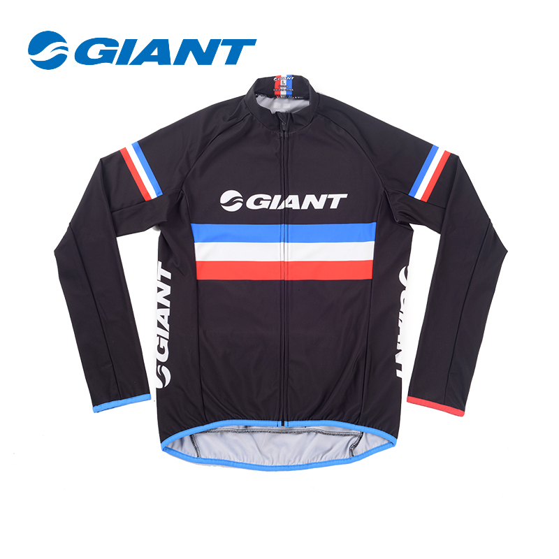 4678bd61f Giant giant MY17 warm warm autumn and winter fleece long sleeve cycling  jersey cycling equipment