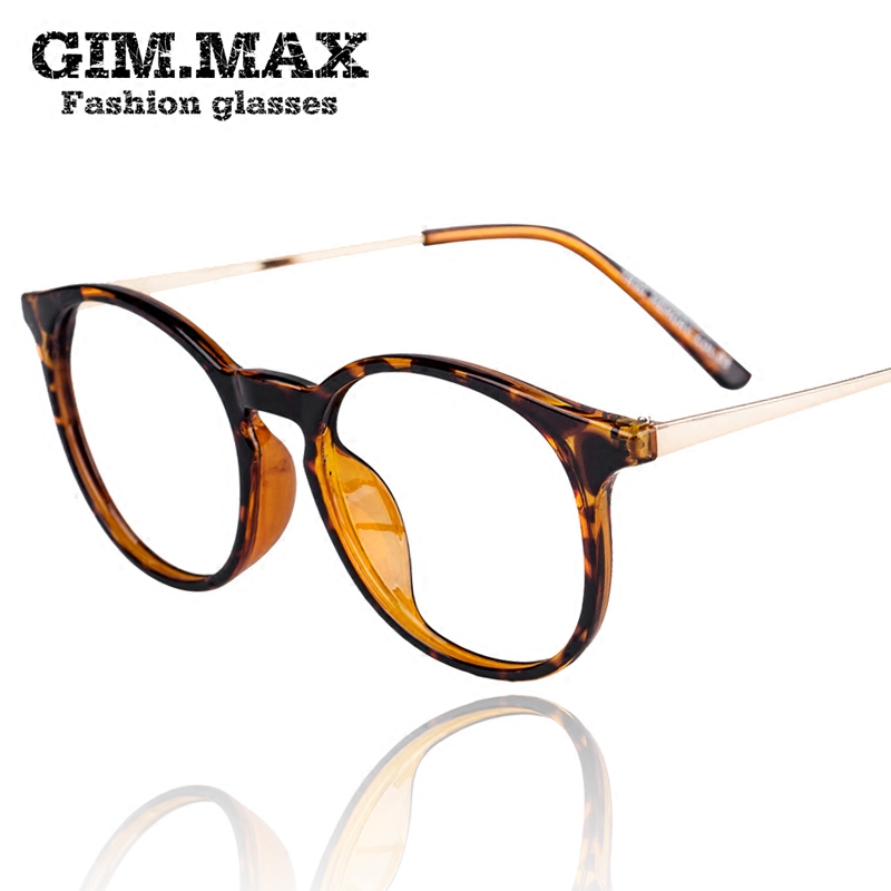 Gimmax lovely decorative glasses frame glasses tr90 lightweight professional myopia small box plain mirror frame glasses frames for men and women