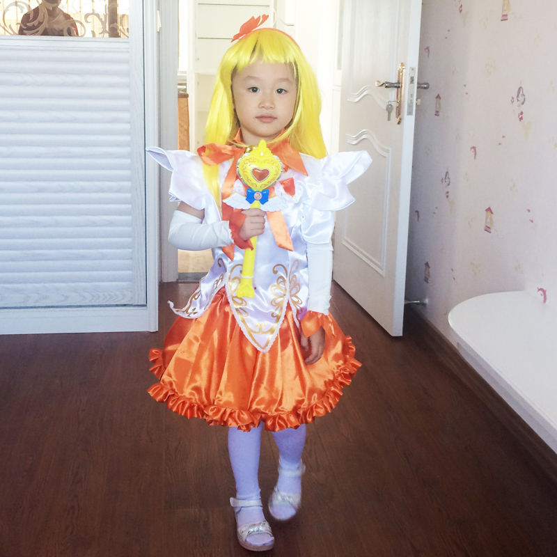 Girls halloween costume children balala little magic fairy small blue costume cos betty poly will dress clothes suit