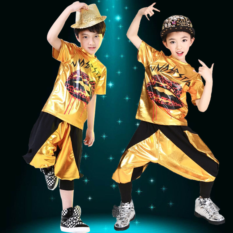Girls modern dance hip-hop jazz dance costumes for children to play children's hip-hop dance performance clothing infant clothing jazz dance clothes with disabilities
