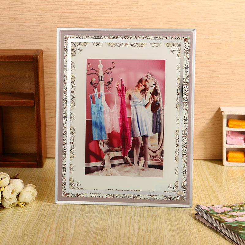 Glass crystal glass painting painting thermal transfer thermal transfer supplies crystal glass photo frame white embryo bl-04