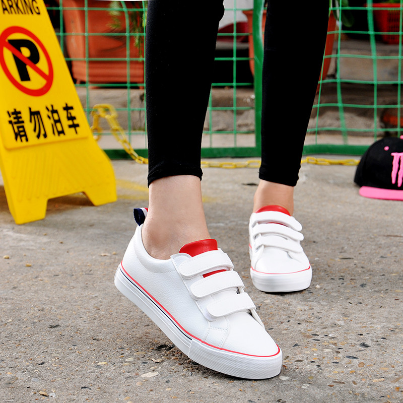 Global autumn new simple fashion wild spell color canvas shoes women shoes velcro shoes fashion institute