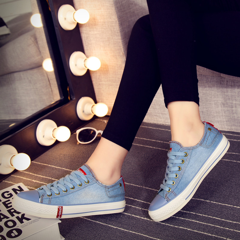 Global help low tide shoes cowboy shoes women casual shoes women shoes college female student flat canvas shoes