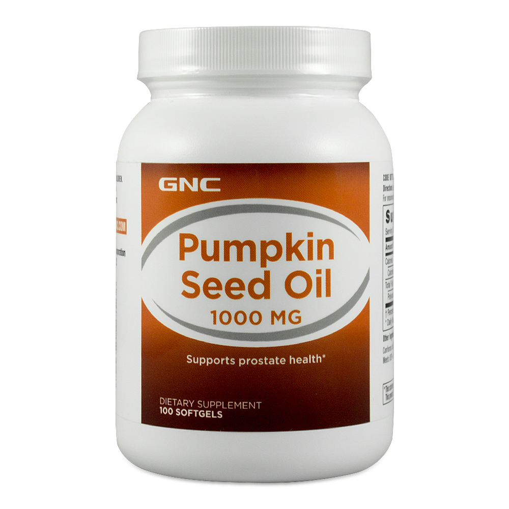 Gnc/gnc us assured direct mail! pumpkin seed oil soft capsule 1000 mg 100 capsules