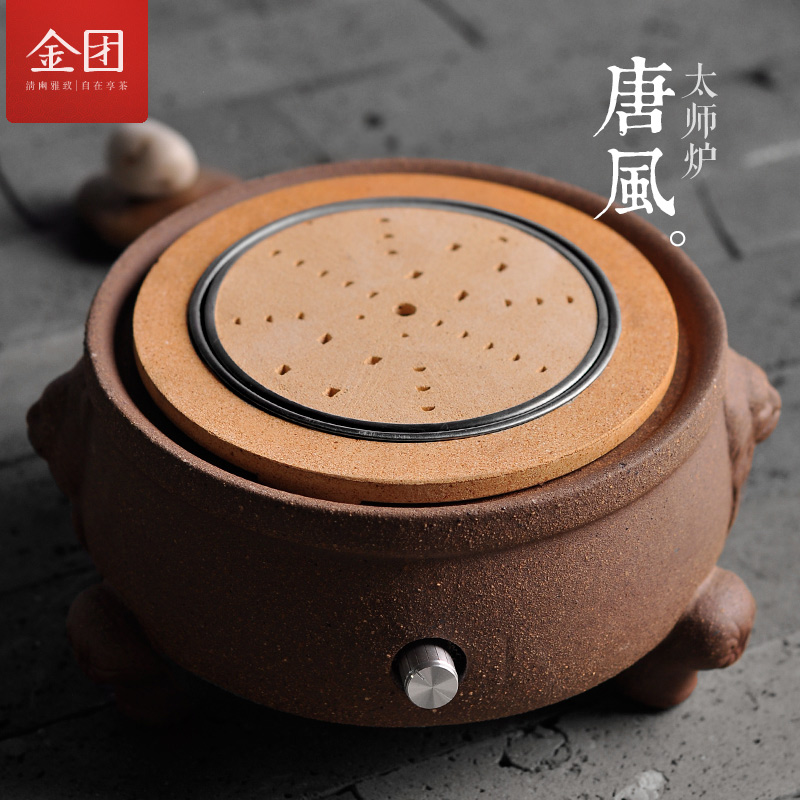 Gold group kung fu tea kettle stove electric ceramic stove electric stove stove tea making facilities dedicated iron kettle stove boiled Kettle