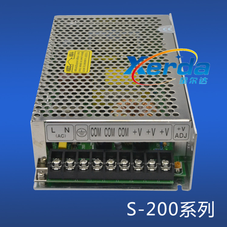 Gold led switching power supply ce certification single voltage S-200-12V16.6A/S-200-24V8.3 a
