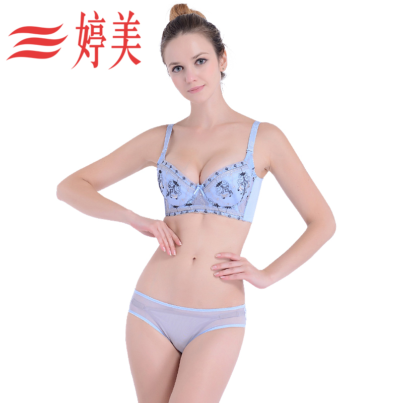 5335778f90 Get Quotations · Golden triangle tingmei underwear bra care anti sagging  gather thin cup adjustable bra sexy bra set