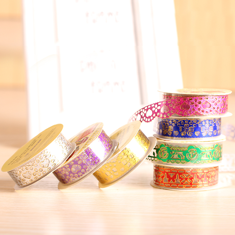 Good tool for phnom penh hollow decorative accessories handmade diy album lace tape multicolor variety