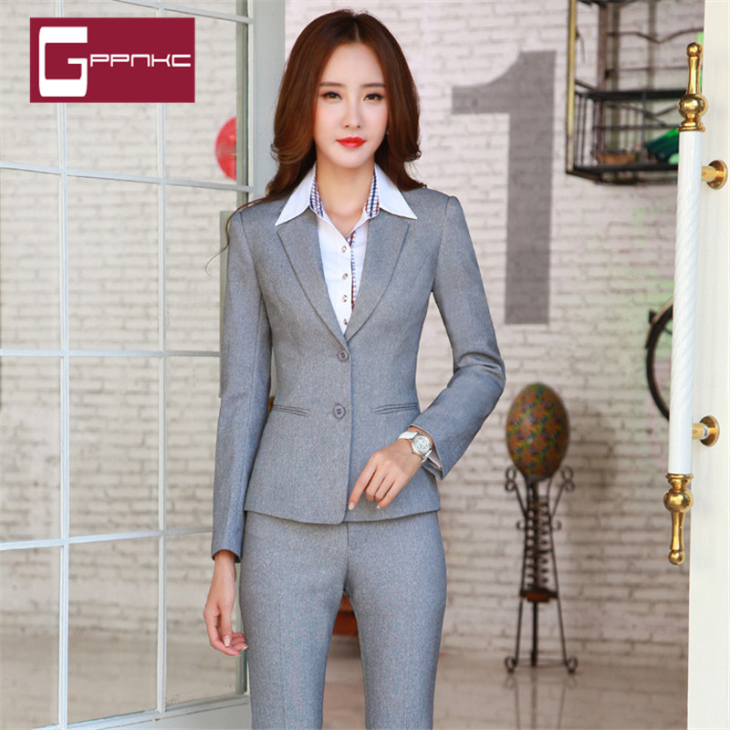 Gppnkc custom 2016 spring and summer new temperament fashion career suits career suits ol ladies long sleeve