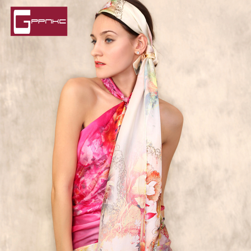 Gppnkc custom spring and summer 2016 new silk scarf national wind scarf shawl lovers