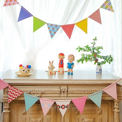 Graduation party pennant bunting wedding decoration garland party room pendant mounted cloth children's room dress supplies