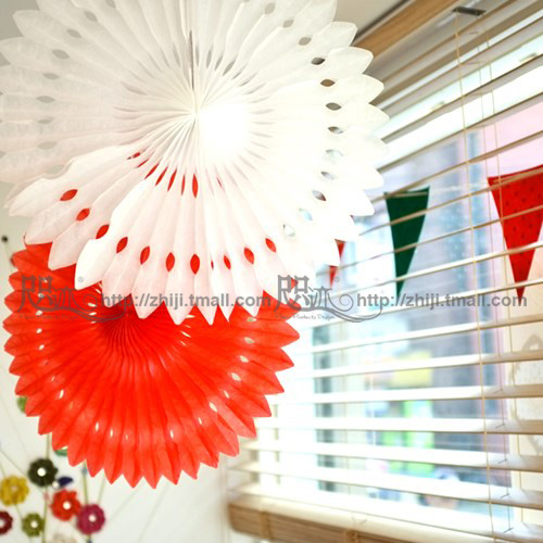 Graduation party supplies birthday party wedding decoration wedding marriage room layout paper snowflake paper fan 20-30 cm