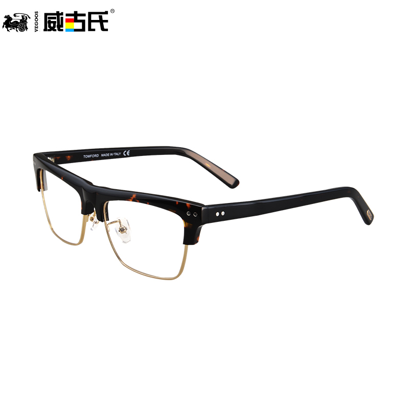 Granville gooch myopia big face frame glasses frame plate retro glasses frames for men and women finished myopia frame glasses frame 5067