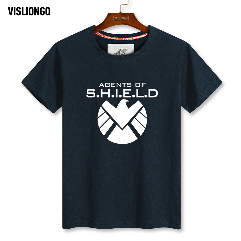 Granville lions grid us drama s.h.i.e.l.d. agent t-shirt men short sleeve round neck t-shirt sleeve summer plus mast yards