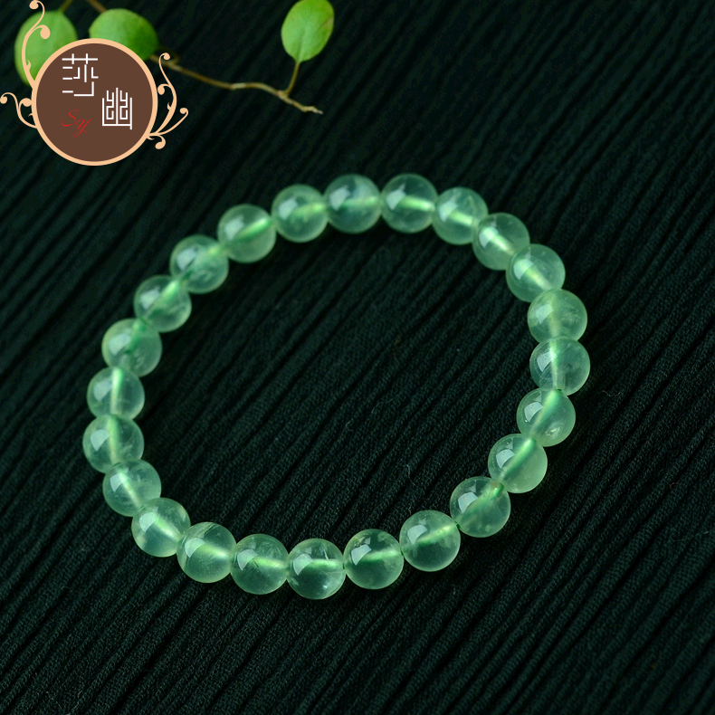 Green bi liu sha secluded natural grape stone bracelet crystal beads beaded jewelry with beads diy loose beads featured