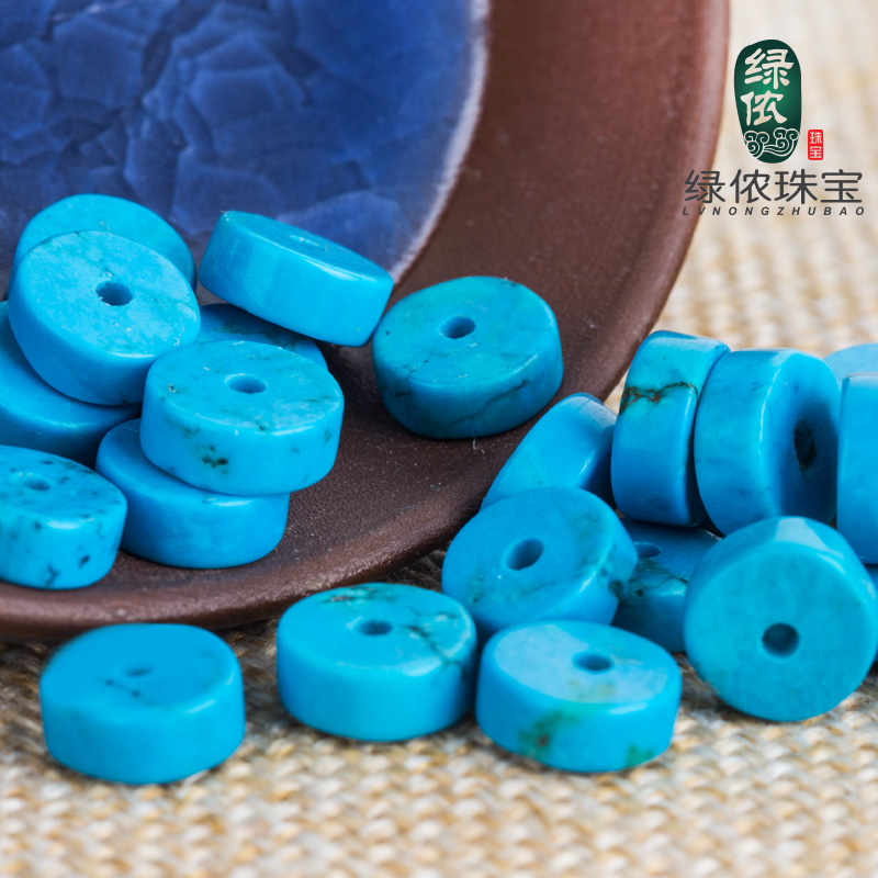 Green lennon imitation of american turquoise blue turquoise spacer spacer beads bracelets bracelet jewelry accessories diy accessories