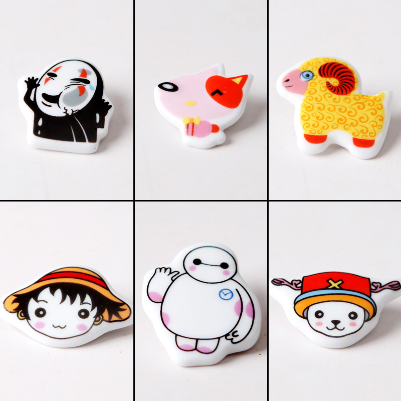 Green song ceramic brooches cartoon cute ceramic accessories ceramic jewelry fresh literary couple models brooch