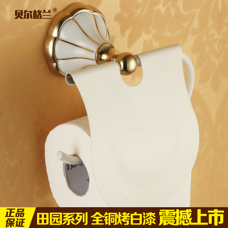 Grilled white paint all copper gold toilet paper holder toilet roll toilet tissue box tissue box of toilet paper large rolls of toilet paper box