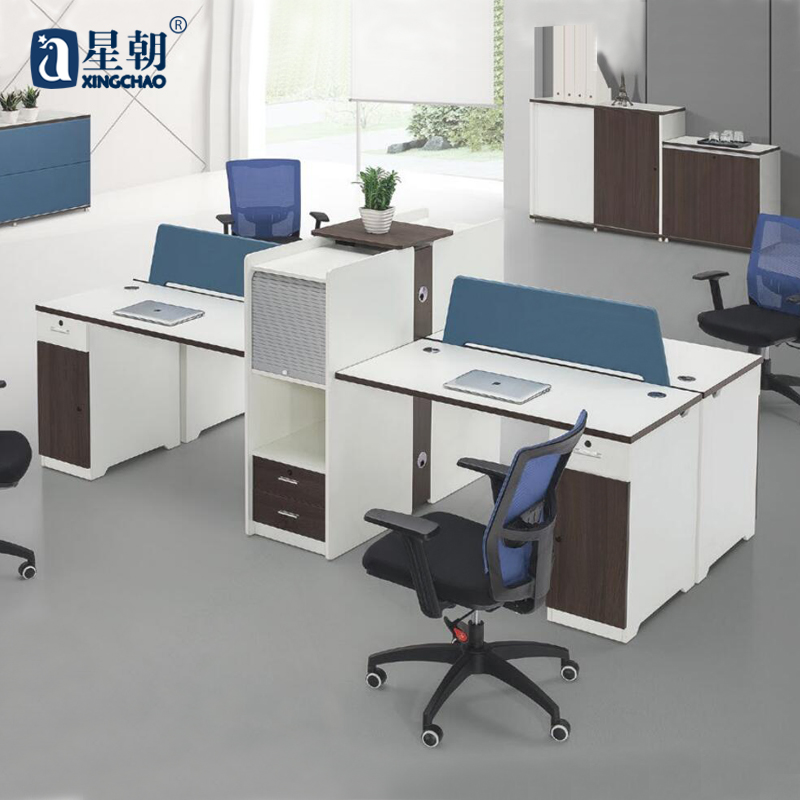 Guangzhou lowfat towards furniture single/two/four bits desk staff tables wall panels niche computer desk Table