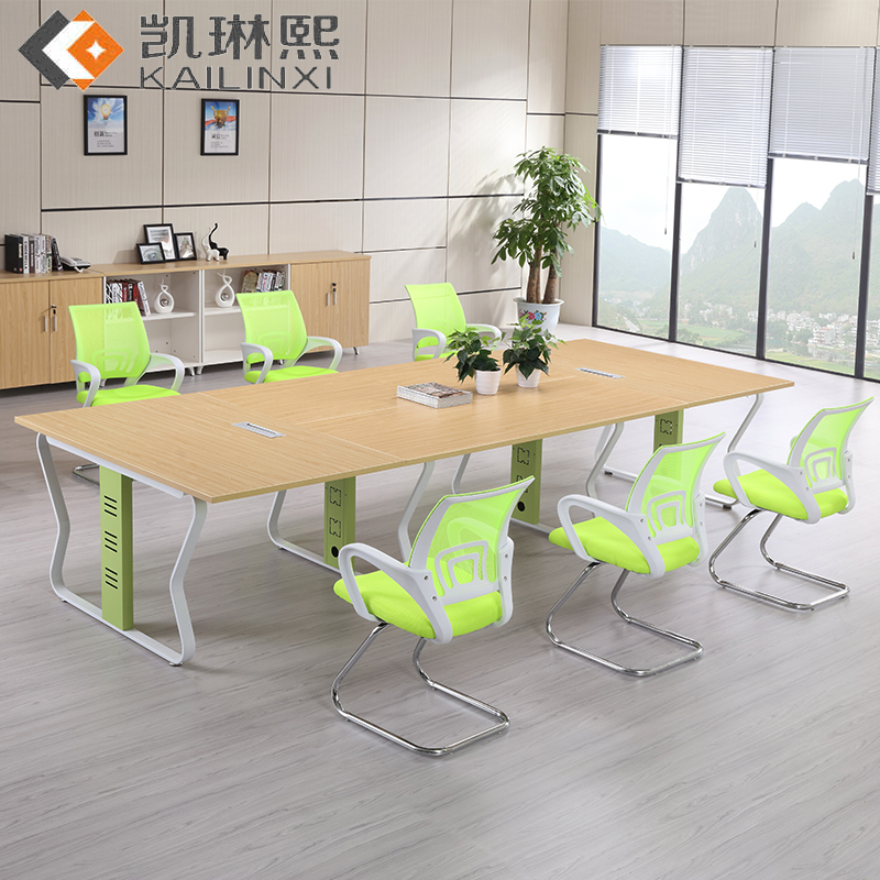 Guangzhou Office Furniture Minimalist Modern Conference Table Long Bar Negotiating Meeting In